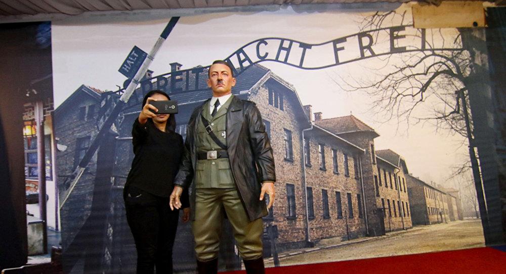 Ādolfa Hitlera skulptūra Vaska figūru muzejā De Arca