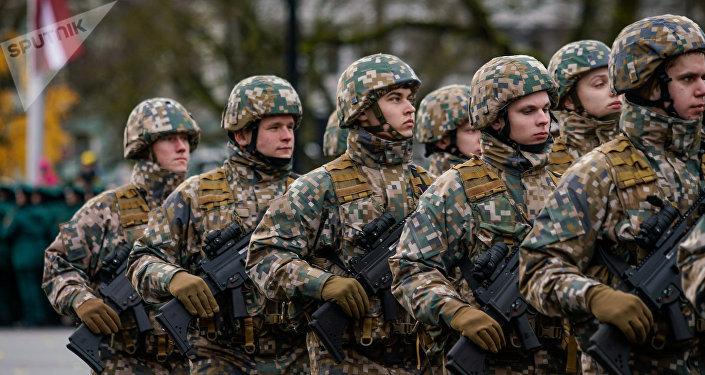 Латвийские военнослужащие. Архивное фото