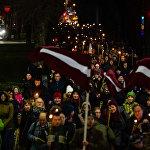 Факельное шествие в день Лачплесиса