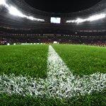 Так выглядит новое травяное покрытие на футбольном поле стадиона Лужники после масштабной реконструкции спортивного объекта