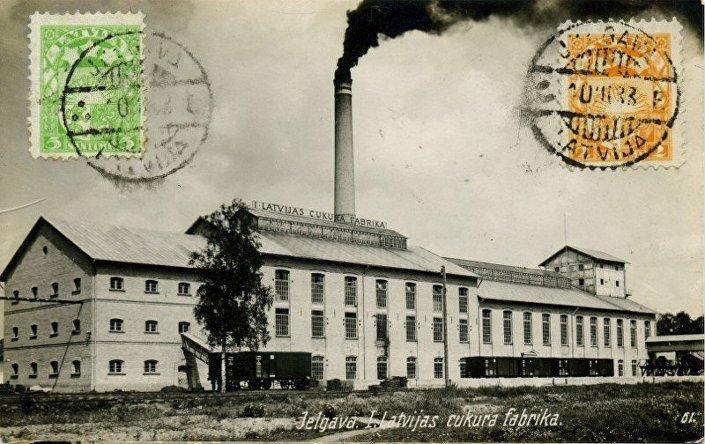Елгавская сахарная фабрика — первая в Латвии