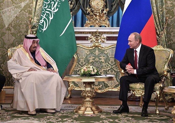 Переговоры президента РФ Владимира Путина с королем Саудовской Аравии Сальманом Аль-Саудом