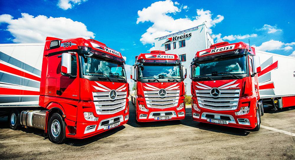 Latvijas kravu pārvadājumu firma Kreiss