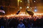 Neatkarības dienai veltītais lāpu gājiens Rīgā