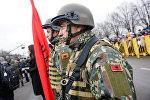 Военнослужащие Албании на параде в Риге