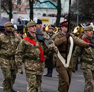 Lielbritānijas karavīri Rīgā