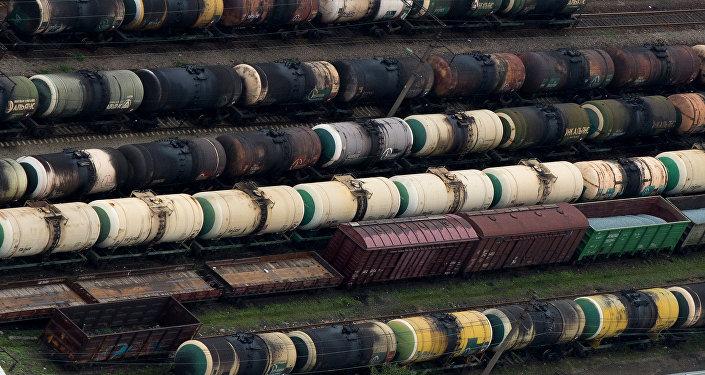 Dzelzceļa ainava.  Foto no arhīva