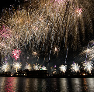 Svētku salūts Latvijas neatkarības dienā