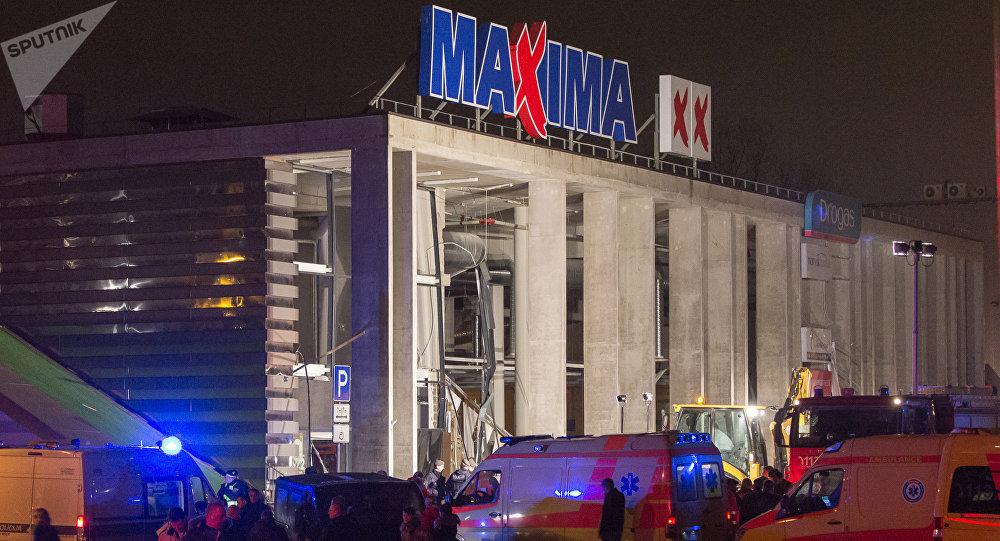 Tirdzniecības centra jumta iebrukšana Zolitūdē. 2013.gada 21.novembrī