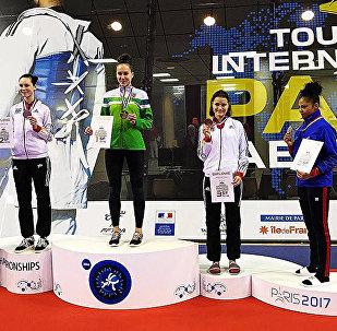 Спортсменка из Шяуляя Клаудия Тваронавичюте заняла первое место на турнире тхэквондо в Париже