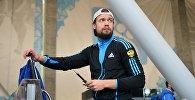 Александр Третьяков на контрольной тренировке сборной России по скелетону в Сочи