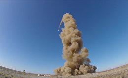 Испытание модернизированной ракеты системы ПО  ВКС РФ в Казахстане