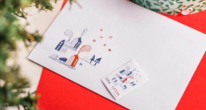 Рождественские марки Почты Литвы с запахом имбирного печенья