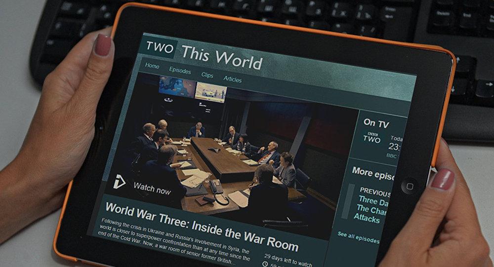 Kadrs no BBC dokumentālās filmas Trešais pasaules karš: kara istaba