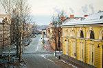 Улица в Даугавпилсе, архивное фото