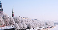 Зимняя Рига, набережная 18 ноября