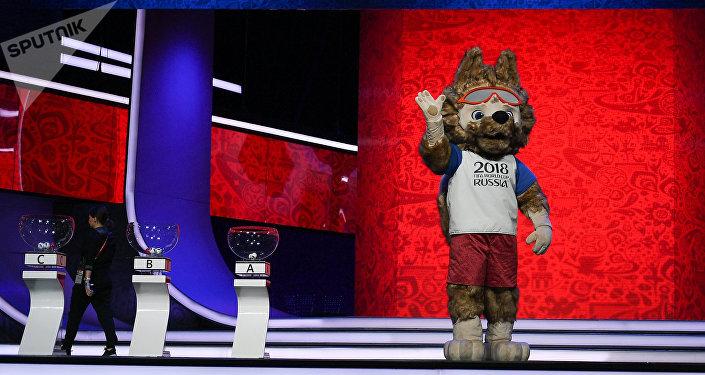 2018. gada pasaules čempionāta futbolā talismans vilks Zabivaka