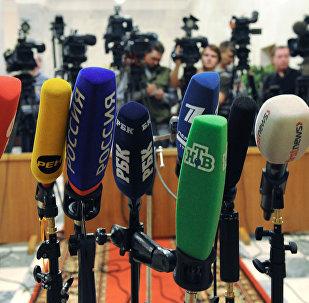 Žurnālistu mikrofoni