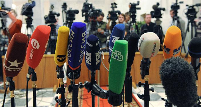 Микрофоны журналистов