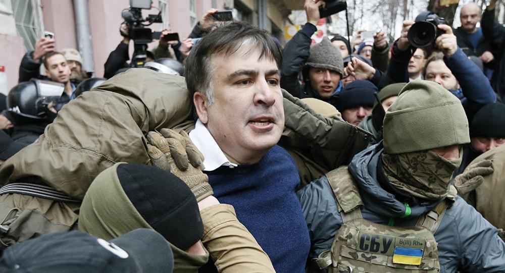Mihaila Saakašvili aizturēšana Kijevā, 2017. gada 5. decembrī