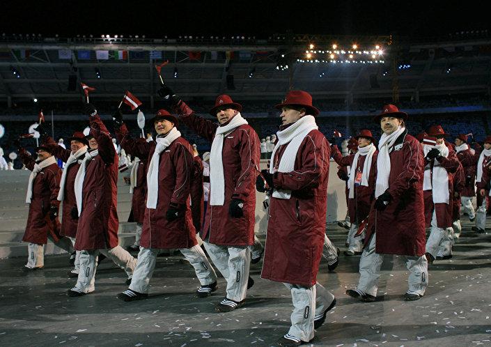 Форма олимпийской сборной Латвии 2006 года