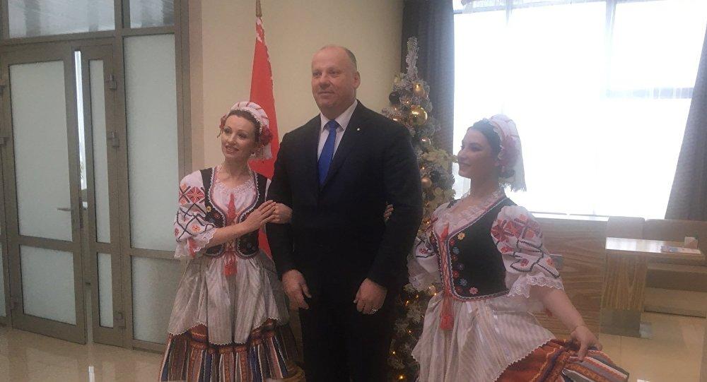 Первый визит Раймондса Бергманиса в Белоруссию