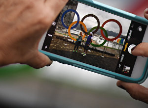 Olimpiskās simbolikas foto