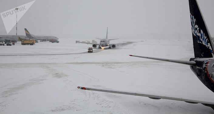 Самолеты на взлетно-посадочной полосе (ВПП) аэропорта Шереметьево, архивное фото