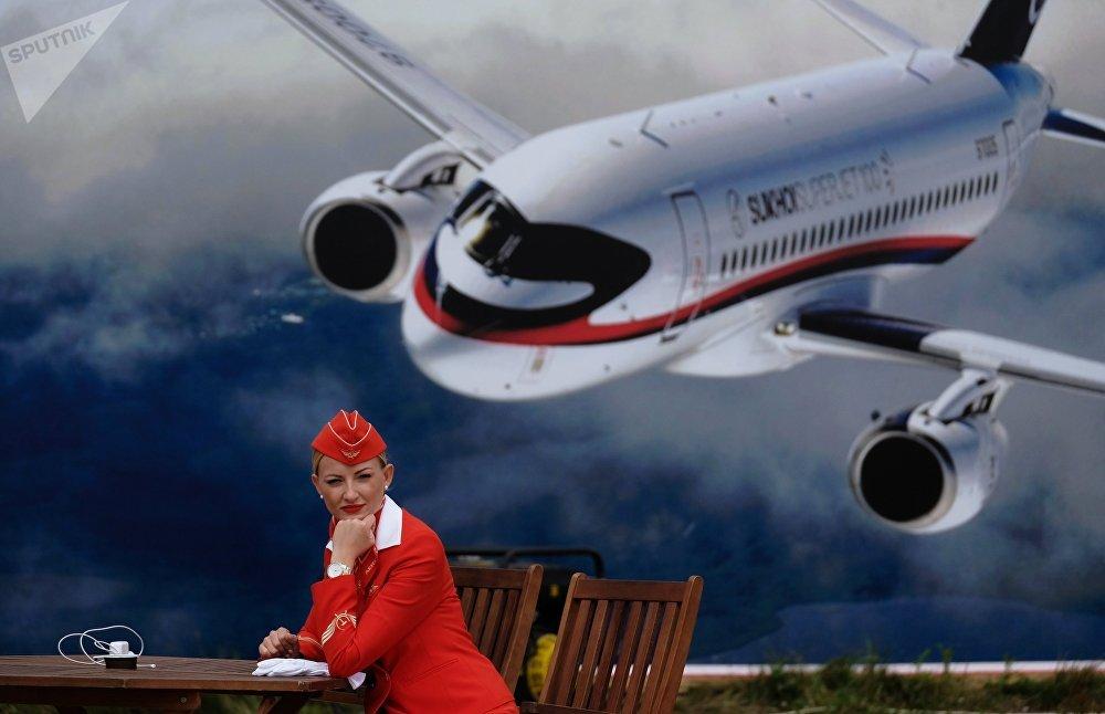 Стюардесса компании Аэрофлот