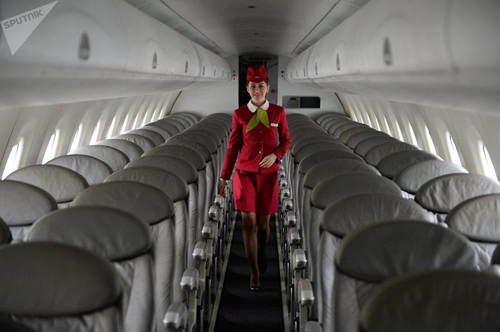 Стюардесса авиакомпании S7 Airlines