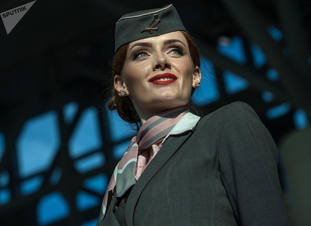 Модель демонстрирует одежду из коллекции Belavia