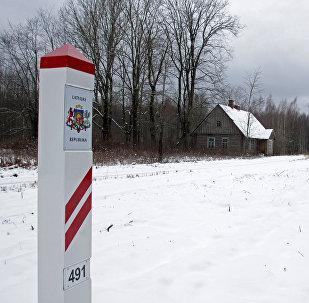 Uz Latvijas un Krievijas robežas. Foto no arhīva