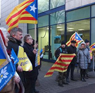 Tallinā notika mītiņš Katalonijas neatkarības atbalstam
