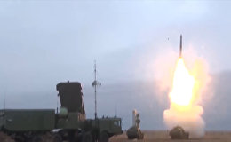 Боевые пуски ЗРК С-400 Триумф