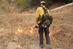 Тушение пожаров в Калифорнии