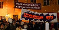 Akcija krievu skolu atbalstam Rīgā