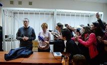 Экс-министр экономического развития Алексей Улюкаев во время оглашения приговора в Замоскворецком суде Москвы