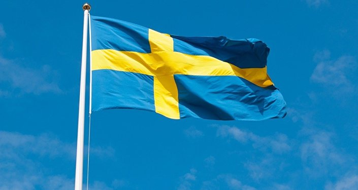 Zviedrijas karogs.Foto no arhīva