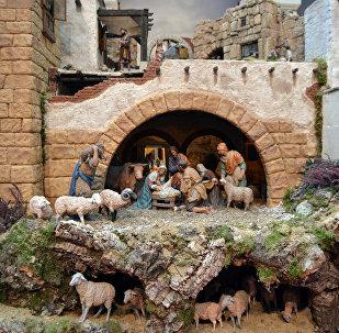 Madridē iekārtota tradicionālā Ziemassvētku aina