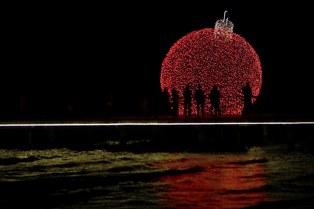 Svētku iluminācija Larnakā, Kipra