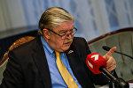 Пресс-конференция посла РФ в Латвии Евгения Лукьянова