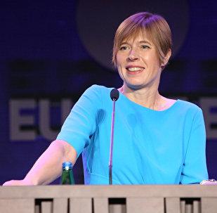 Igaunijas prezidente Kersti Kaljulaida