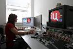 Работа телеканала ТВ-Центр, архивное фото