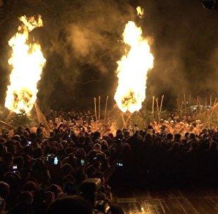 Japānā notikusi Jaungada velna izdzīšanas ceremonija