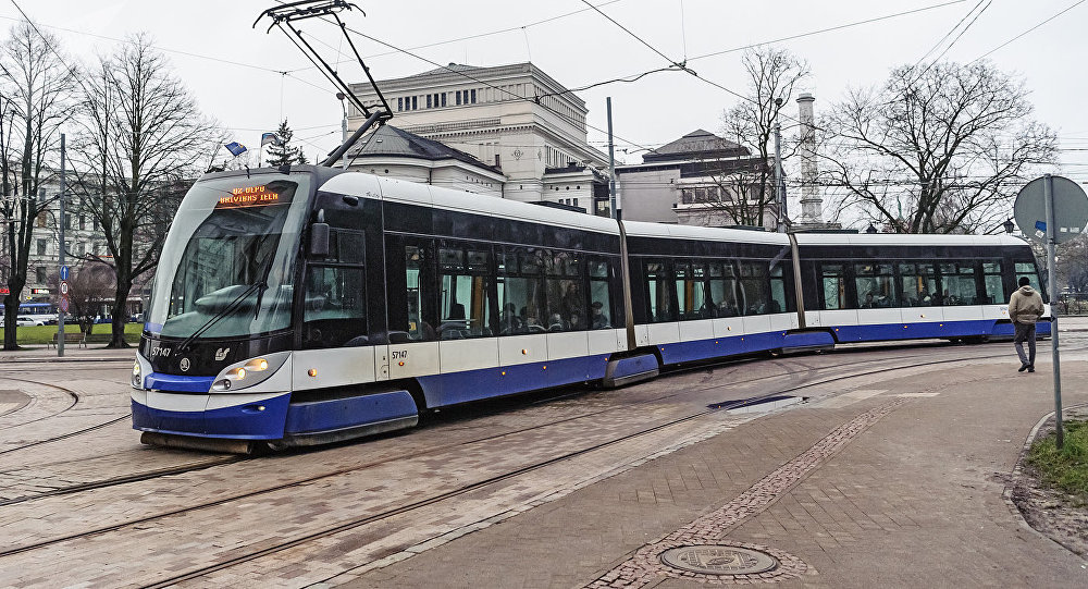 Tramvajs Rīgā. Foto no arhīva