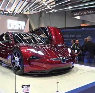 Новый электрокар Fisker EMotion показали на выставке CES 2018 в Лас-Вегасе