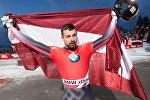 Золотой медалист Мартинс Дукурс на чемпионате мира по скелетону в австрийском Иглсе