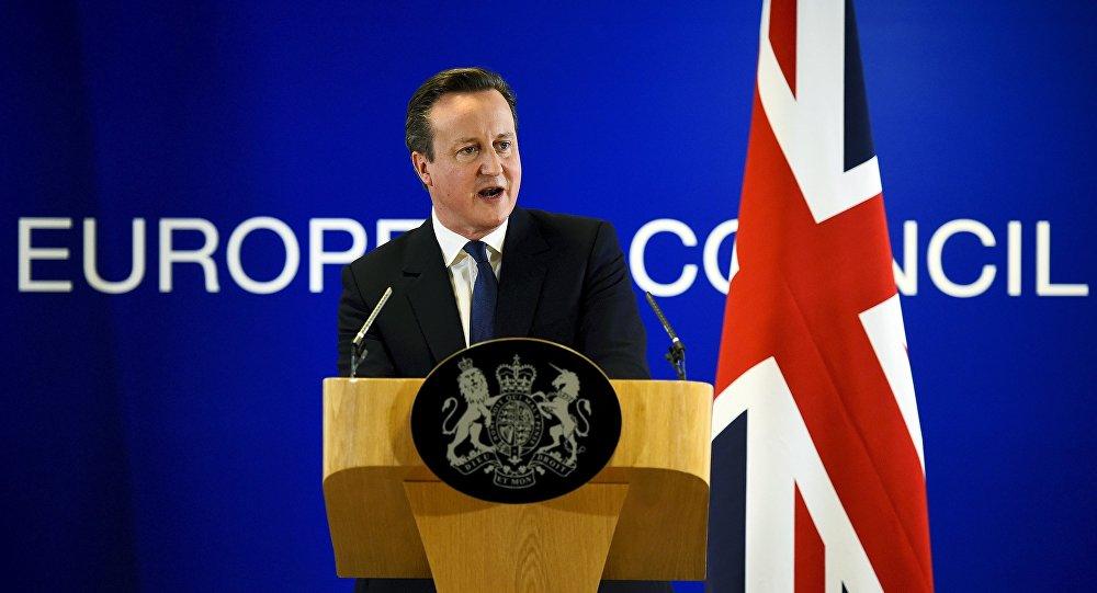 Lielbritānijas premjerministrs Deivids Kamerons. Foto no arhīva