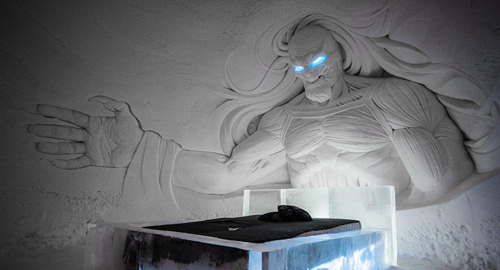 Комната отеля SnowVillage по мотивам фильма Игра престолов, Лапландия. Архивное фото