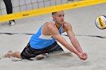 Эдгарс Точс (Латвия) принимает мяч на турнире Masters в Чехии